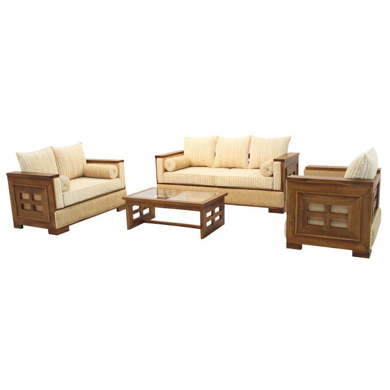 living room set sonic teak arpico furniture. Black Bedroom Furniture Sets. Home Design Ideas