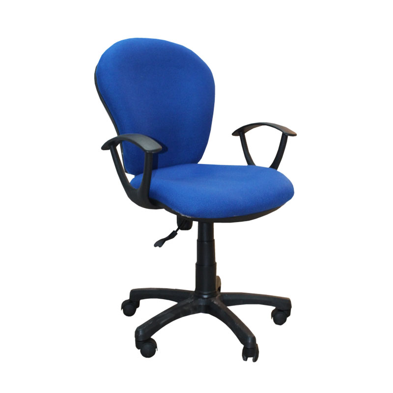 Typist Chair With Arm Blue